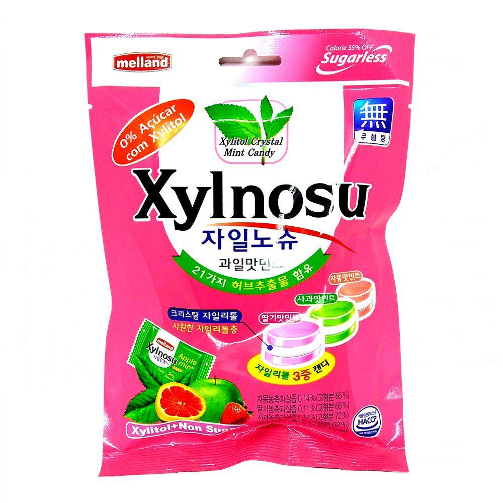 Bala Sem Adição de Açúcar (Xylitol) Xylnosu 68g - Frutas e Menta