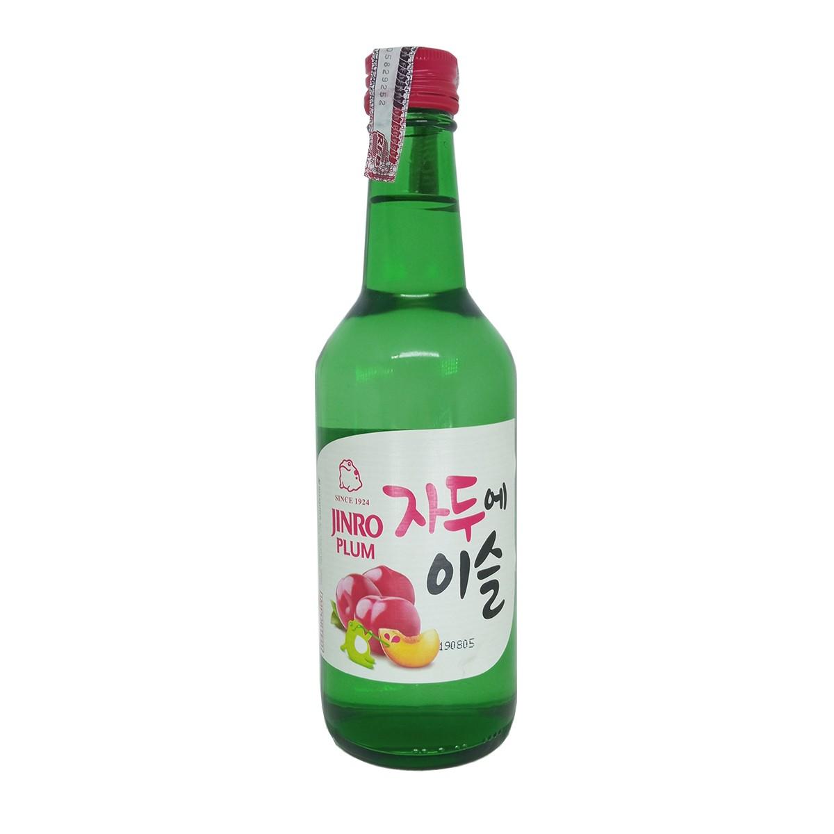 Bebida Coreana Soju Ameixa Jinro Plum 360ml