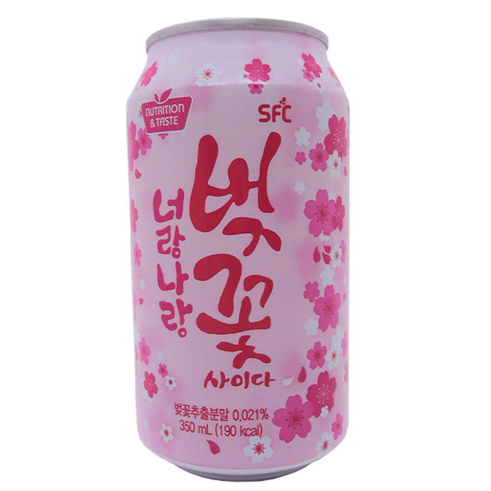 Refrigerante Coreano Sakura Cherry 350ml - SFC