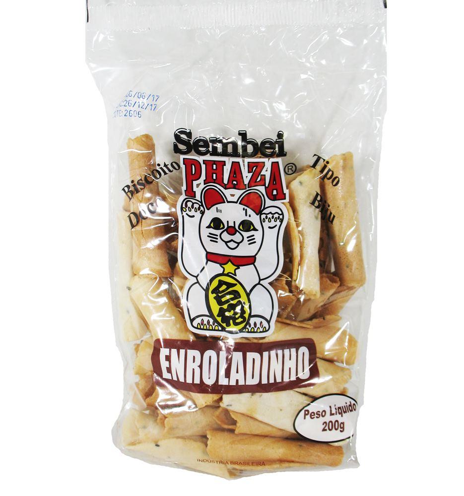 Biscoito Sembei Enroladinho 200gr - Phaza