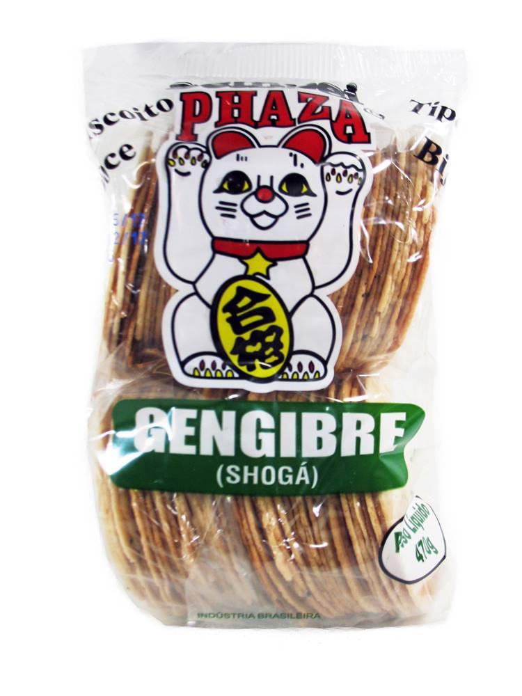 Biscoito Sembei tipo Bijú Phaza Gengibre 470gr