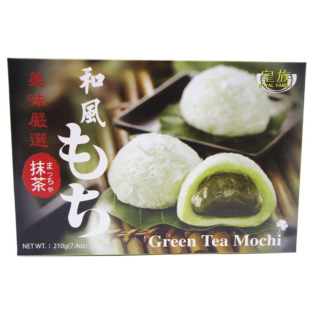 Doce De Arroz japonês Moti Mochi Doce de Chá Verde 210g Royal Family