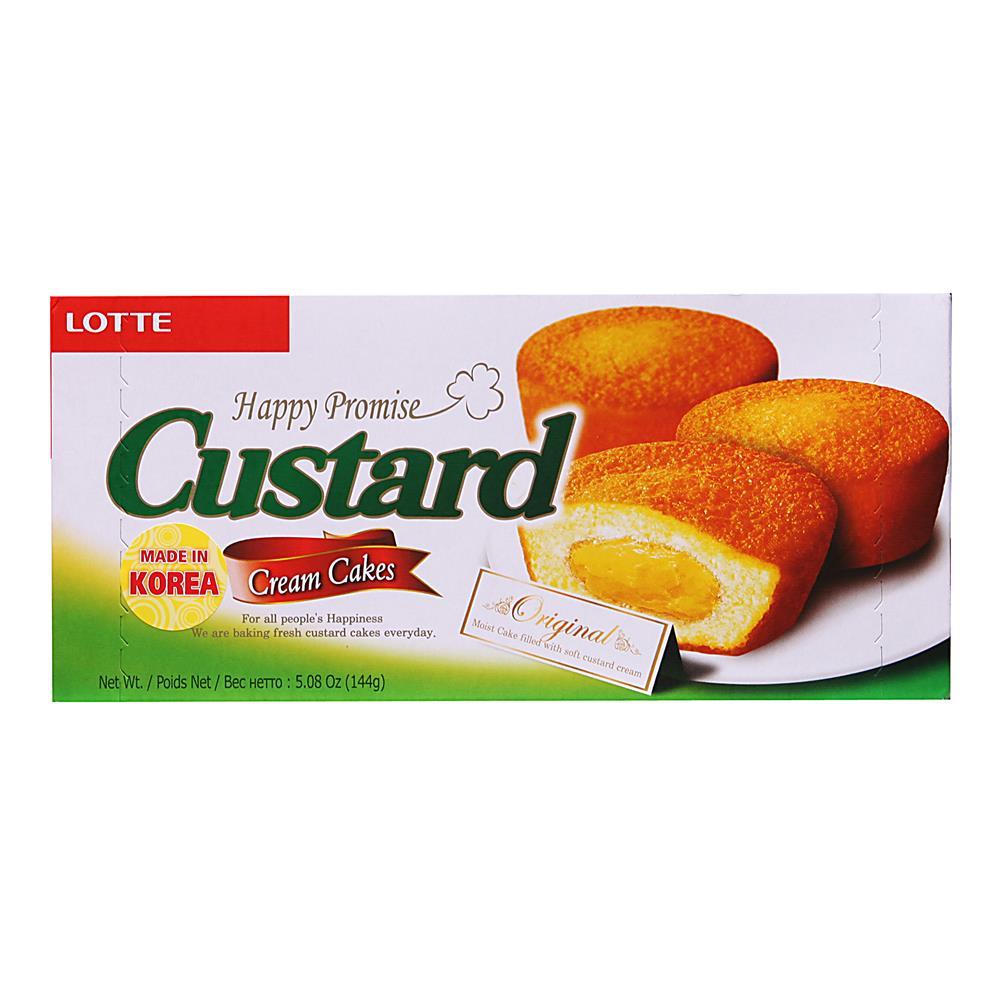 Bolo de Creme Custard 138g - Lotte