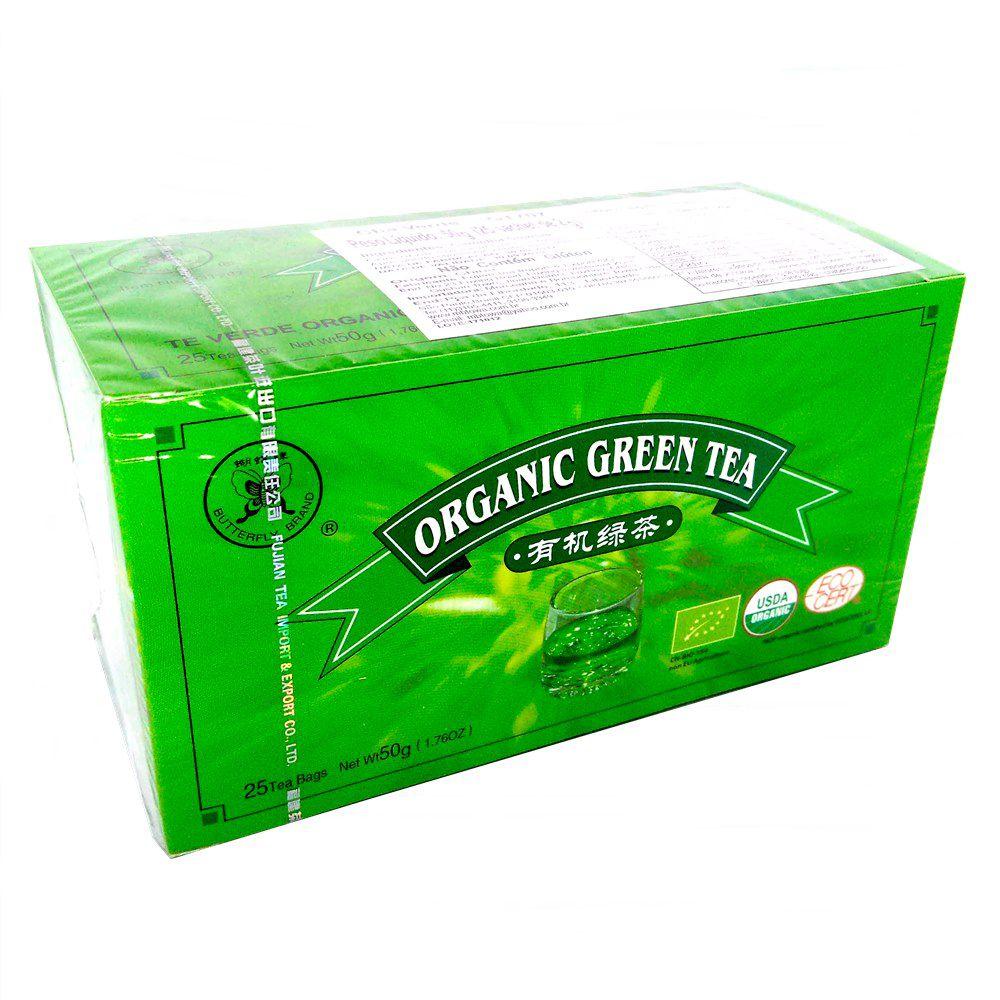 Chá Verde Orgânico 25 Sachês 50g - Fujian
