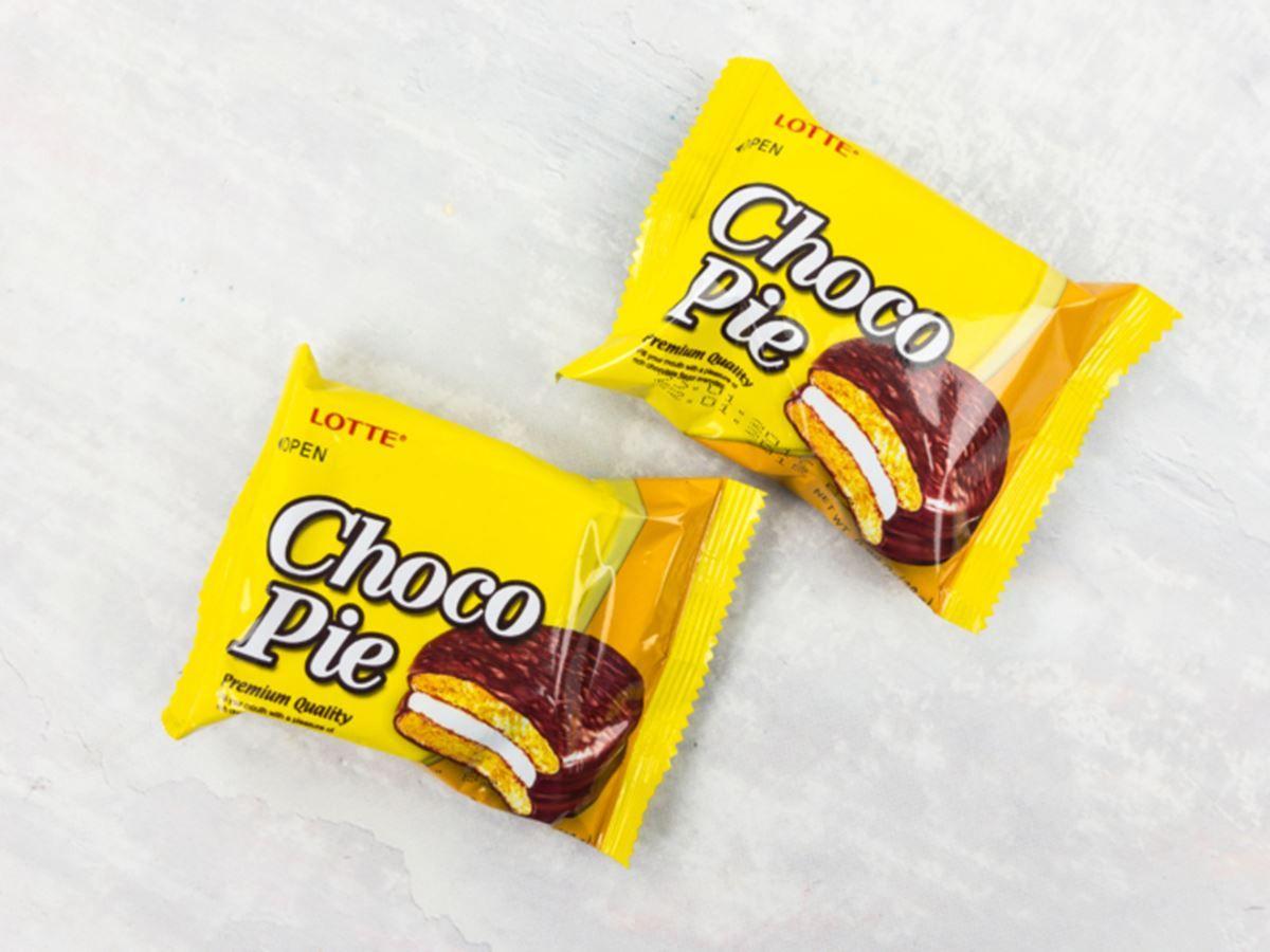 Choco Pie Banana Lotte 12 unid 336g