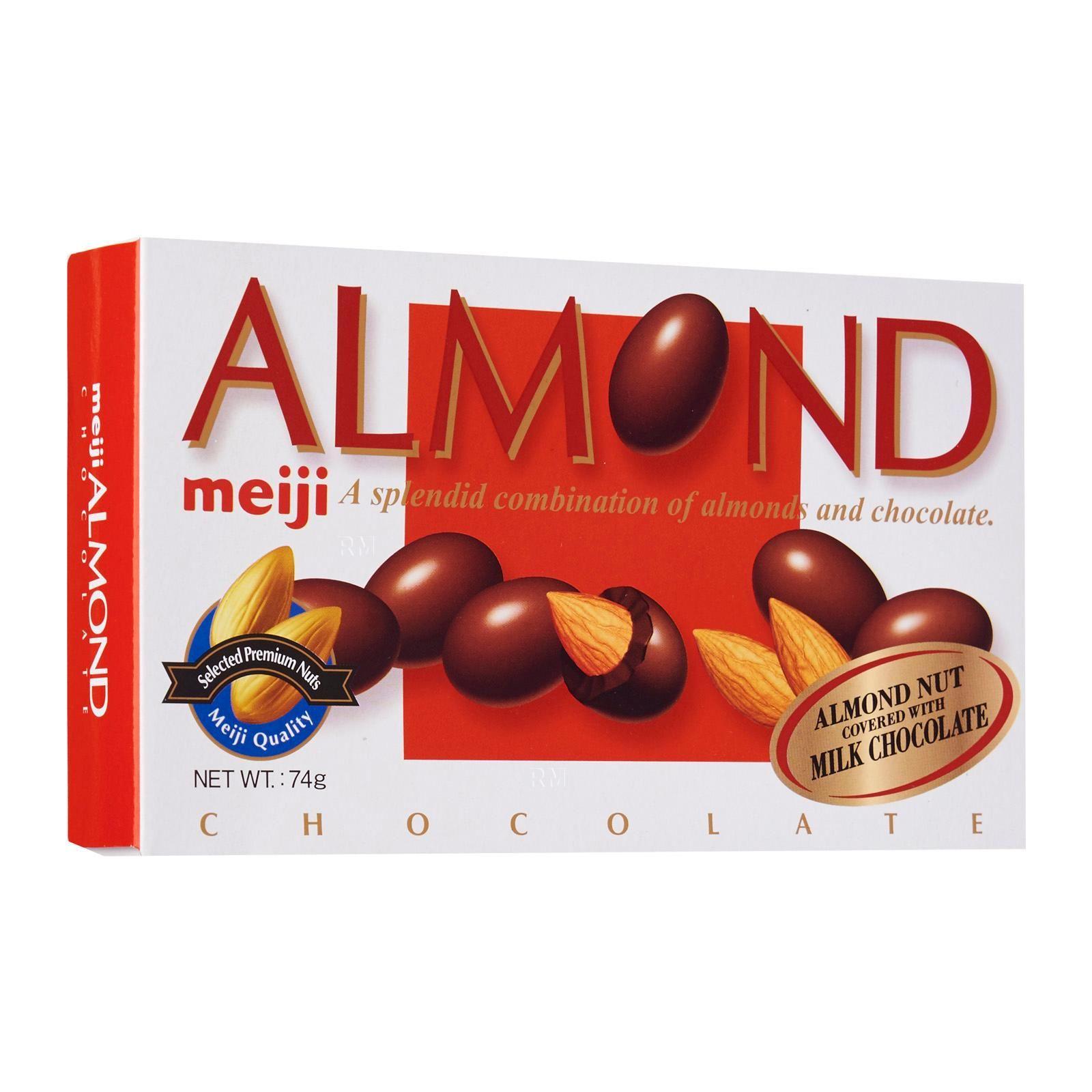 Chocolate Japão Meiji Almond (amêndoas) 88g