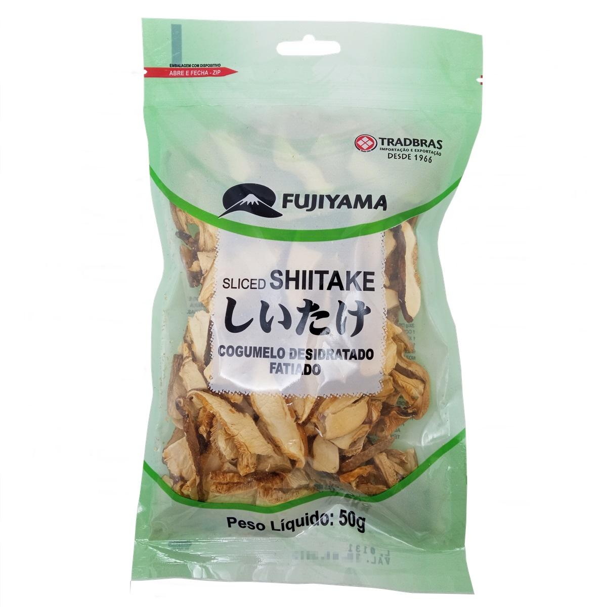 Cogumelo Desidratado Shiitake Shitake Fatiado 50g - Fujiyama