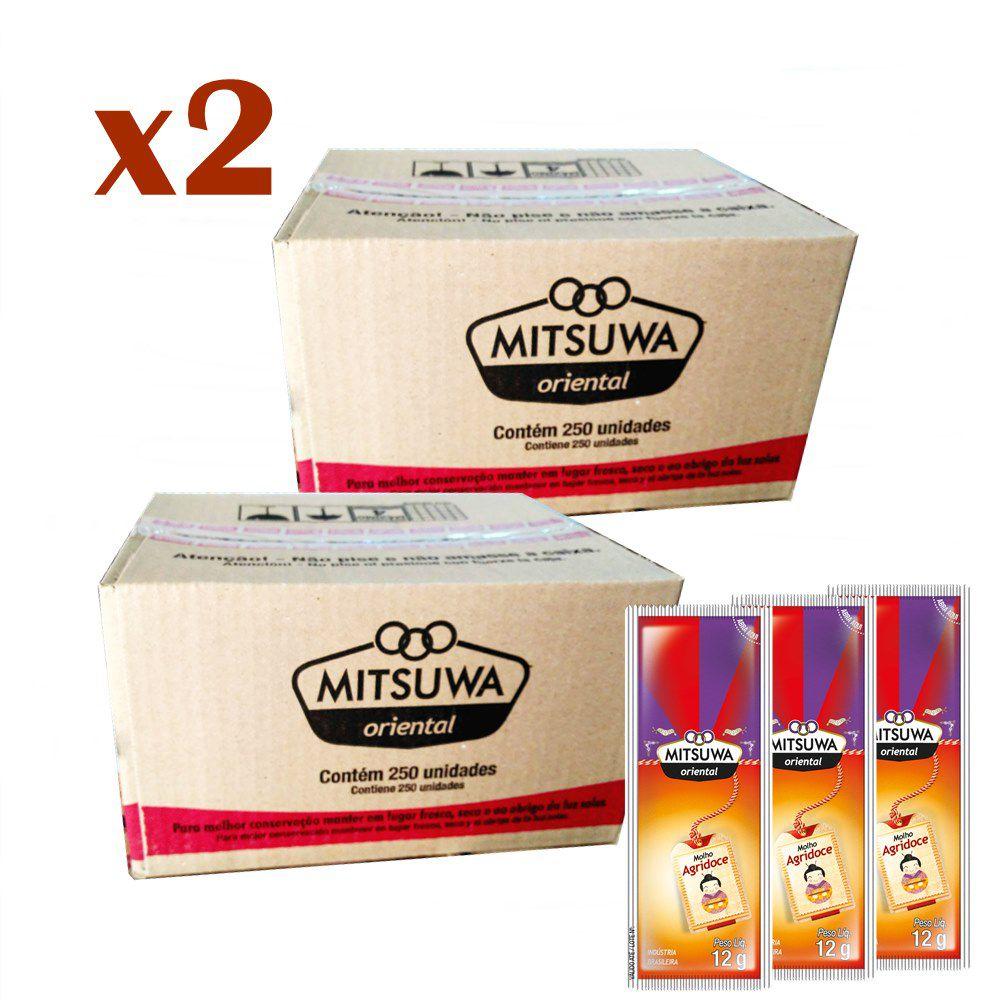 Combo 500 Sachês Molho Agridoce Mitsuwa - 02 caixas