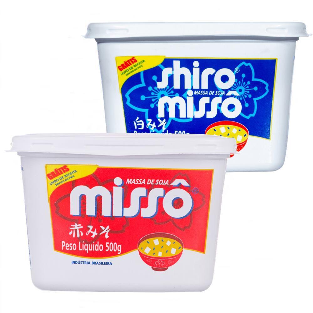 Combo Misso Sakura 1 Aka Vermelho 500g + 1 Shiro Branco 500g