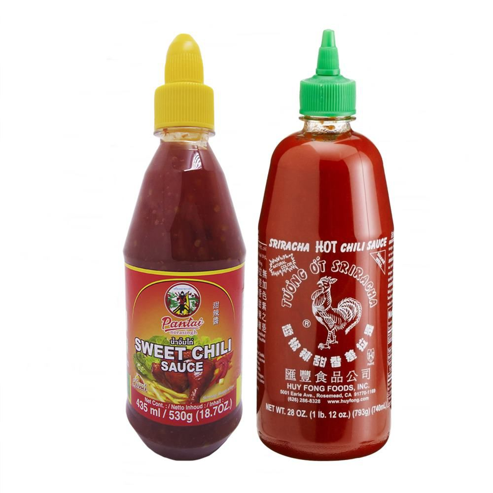 Combo Molho Sriracha 793g + Molho Sweet Chili 530g