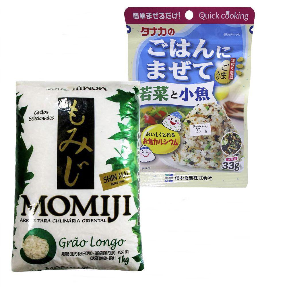 Compre junto Wakame Gohan Kozakana + Arroz Momiji Longo 1kg