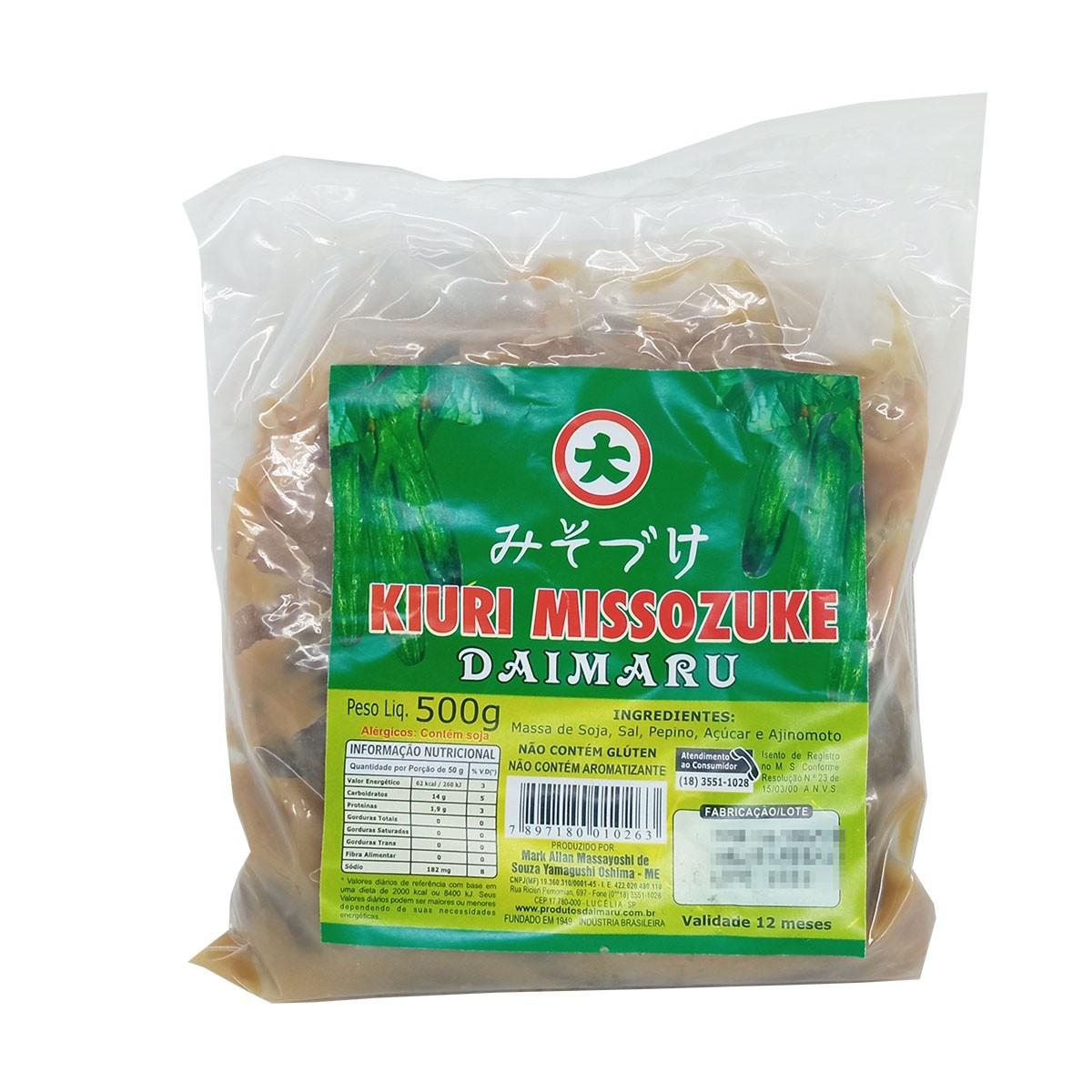 Conserva de Pepino Daimaru Kiuri Missozuke 500g