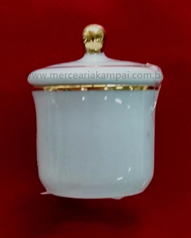 Copinho Branco com Tampa - Detalhe em Ouro PO-71