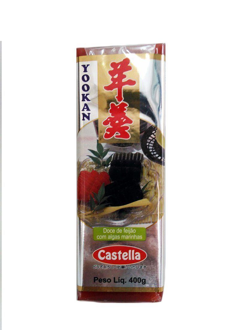 Doce japonês Yookan Feijão Vermelho 400g - Castella