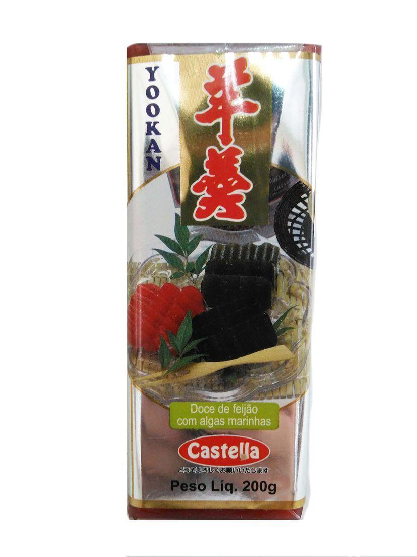 Doce japonês Yookan Feijão Vermelho 200g - Castella
