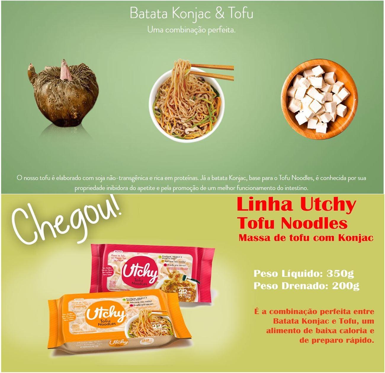 Espaguete de Tofu com Konjac Utchy Tofu Noodles - Hyde 200g