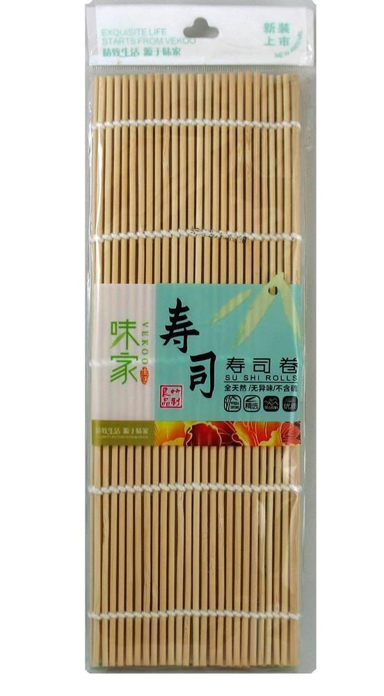 Esteira para Enrolar Sushi Sudare - Bamboo Redonda24x24cm