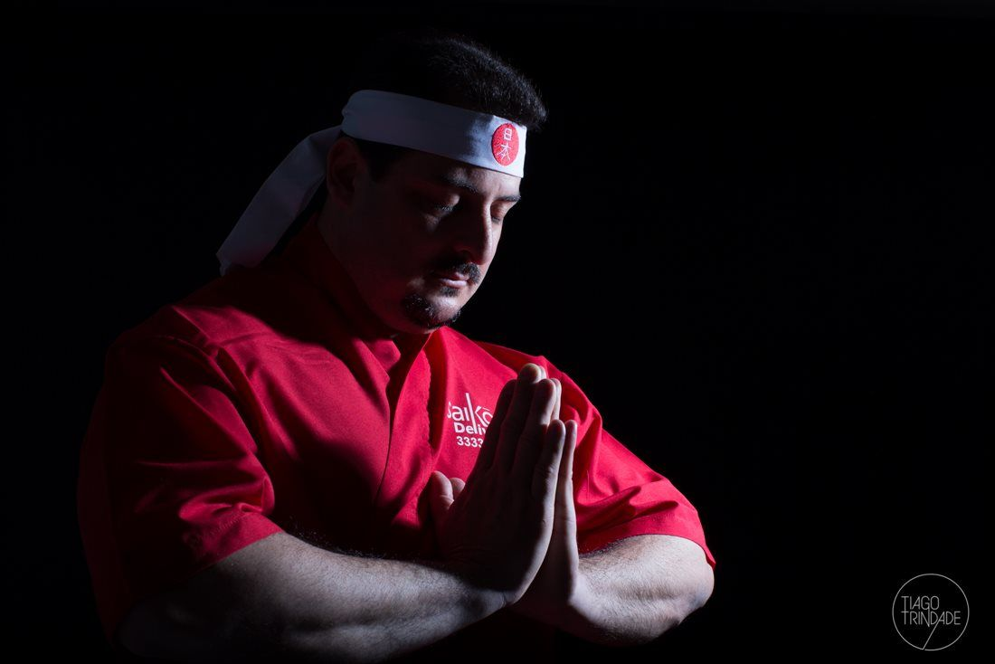 Faixa Hachimaki Para Sushiman Preto- PAZ