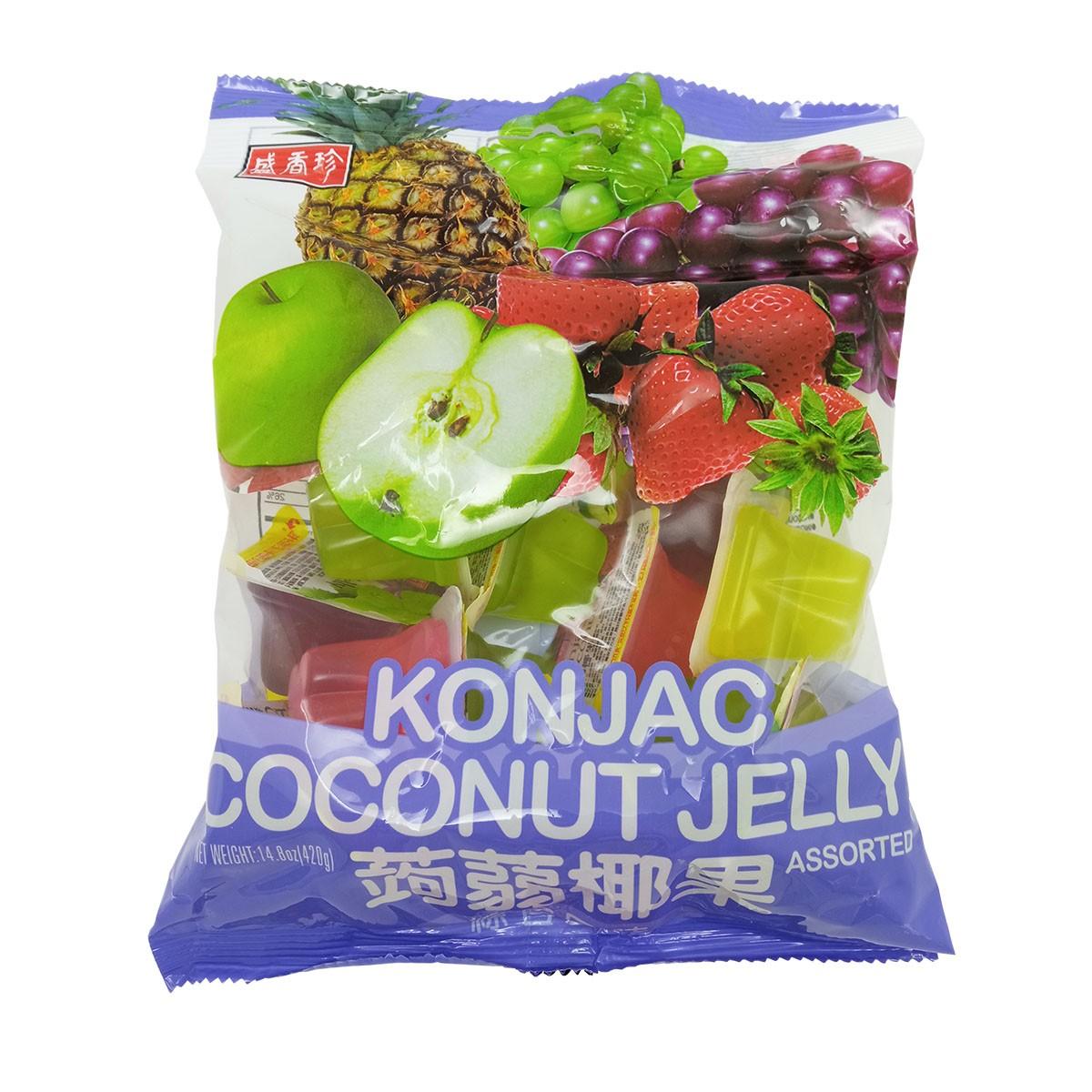 Gelatina de Coco Konjac sabor Frutas Sortidas 420g - Triko