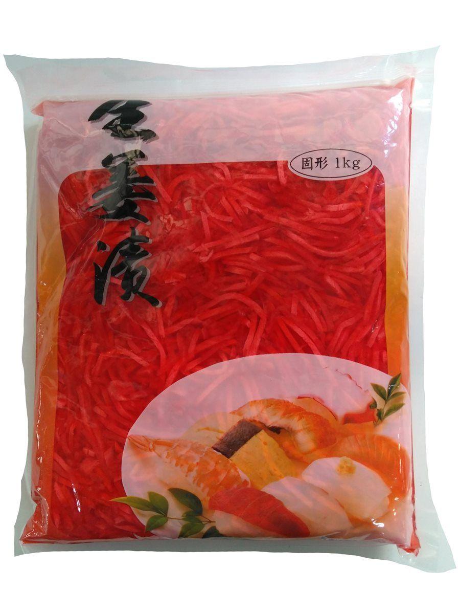 Gengibre p/ Sushi Palito Gari Vermelho 1kg  (Sem Aspartame)