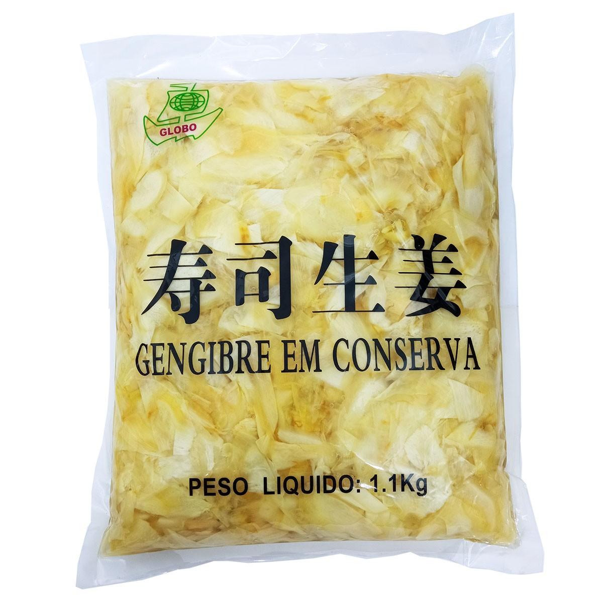 Gengibre em Conserva Gari Agridoce 1kg - Globo