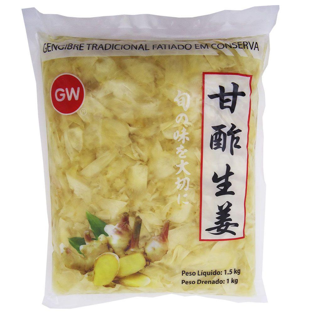 Gengibre Gari Tradicional Fatiado em Conserva 1kg - GW