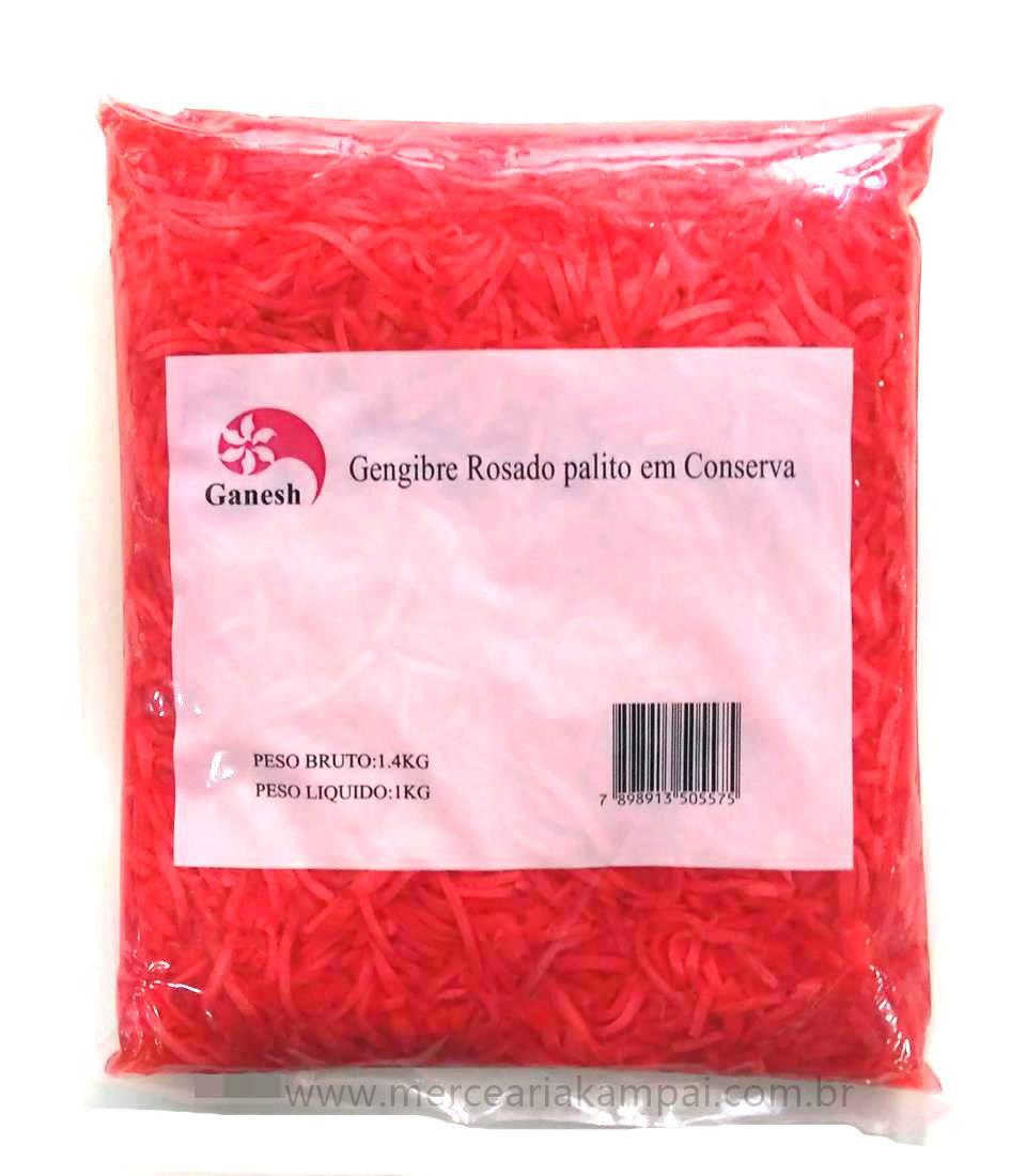 Gengibre em Conserva Rosado Palito 1kg - GANESH