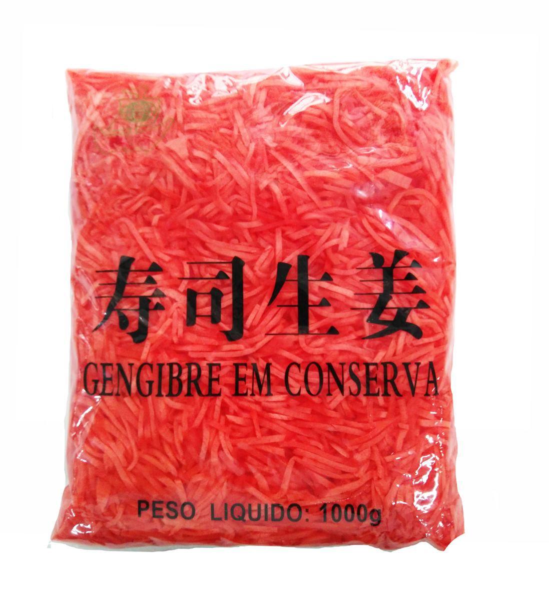 Gengibre Vermelho  em Conserva Palito 1kg Globo