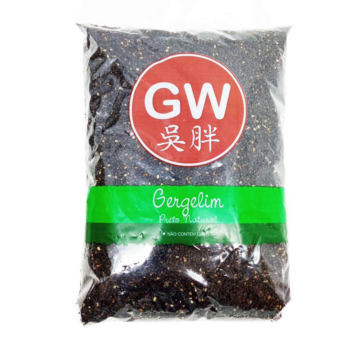 Gergelim Preto Natural 1kg - GW
