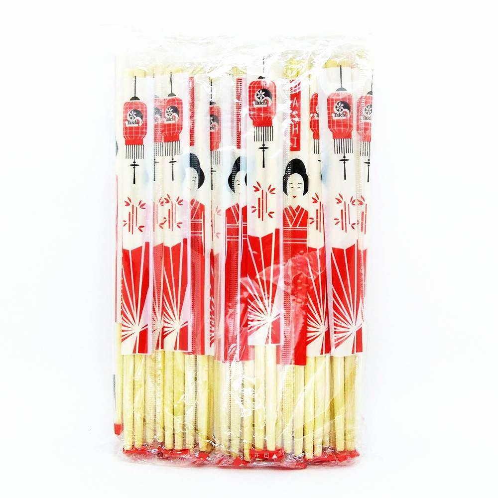 Hashi de bambú redondo 50 pares - Gueixa