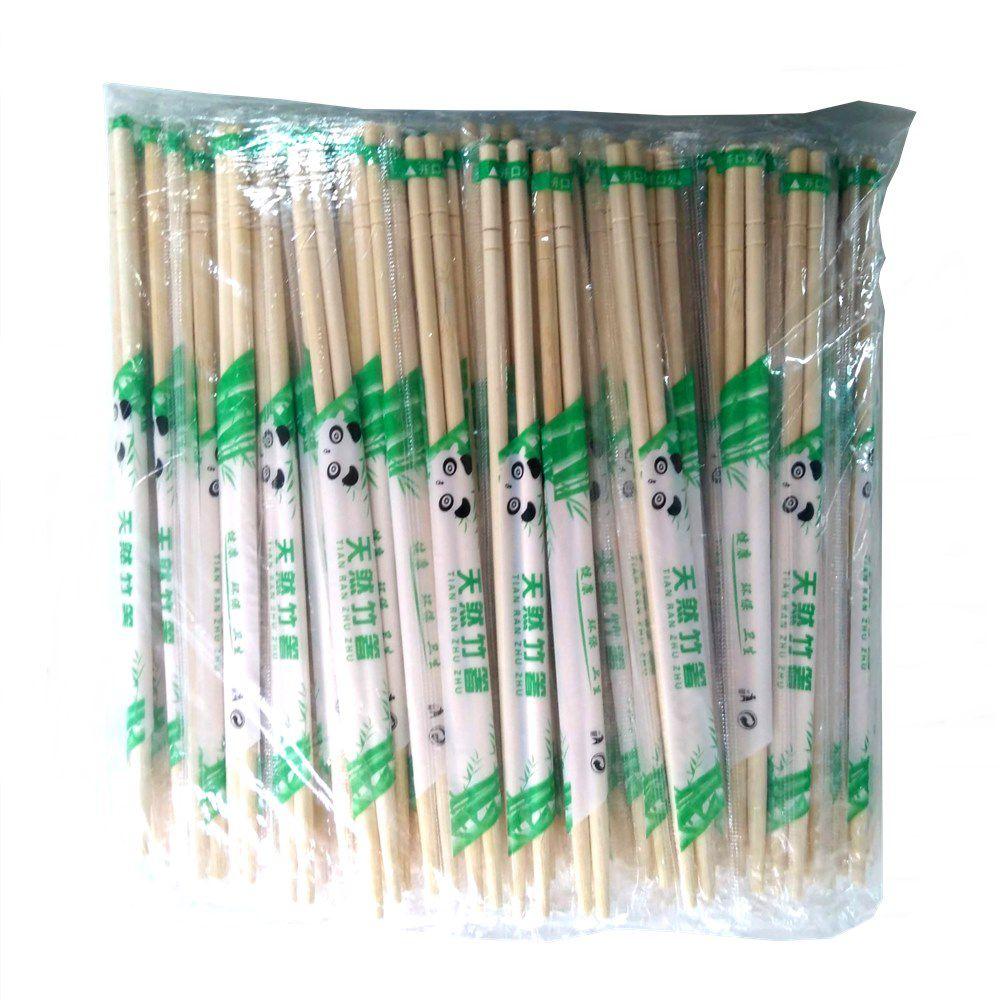 Palitos Hashi Waribashi Descartável de Bambú GW 100 pares
