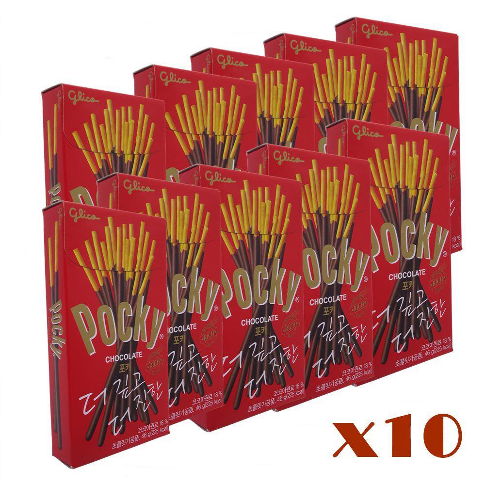 Kit Pocky Chocolate 10 unidades 46 gramas