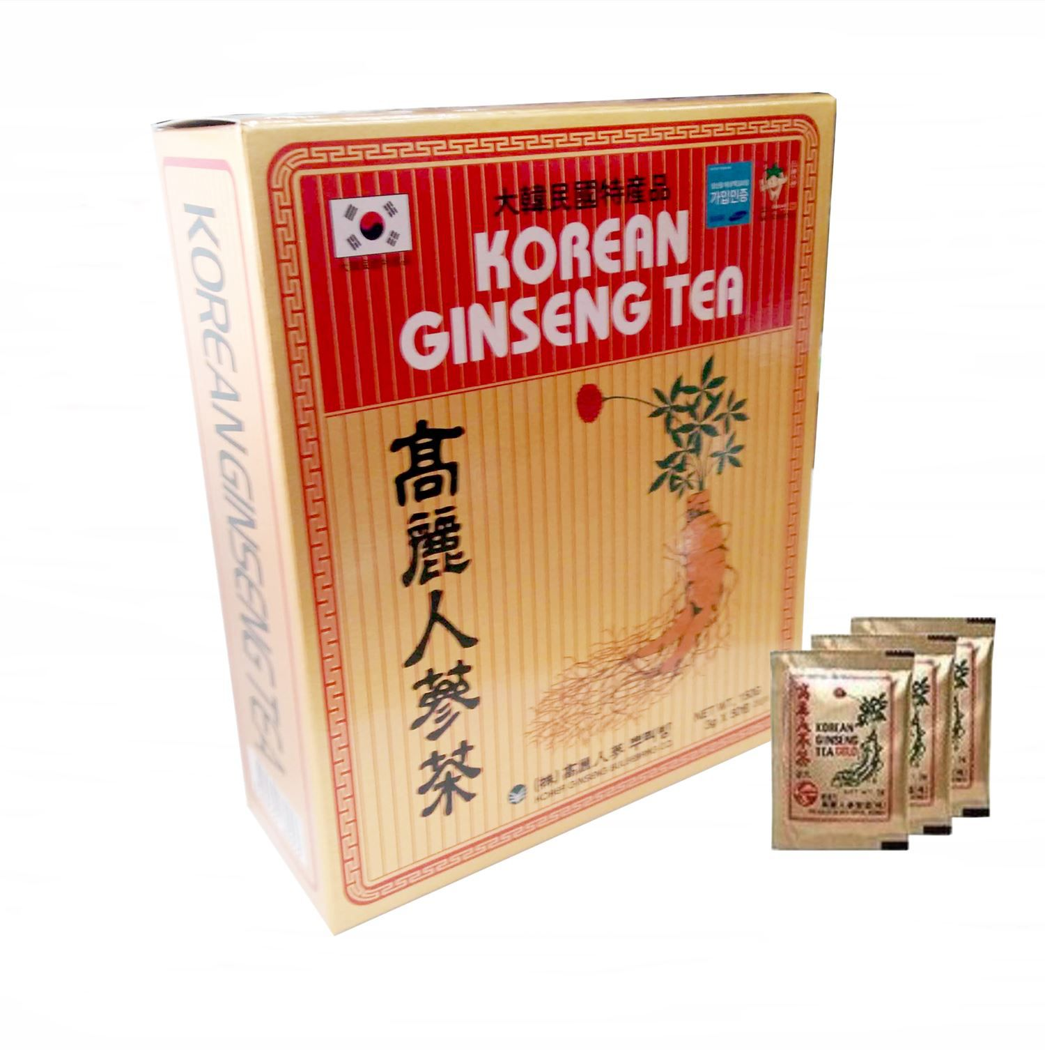 Korean Ginseng Tea Chá Coreano 100 Unid Original