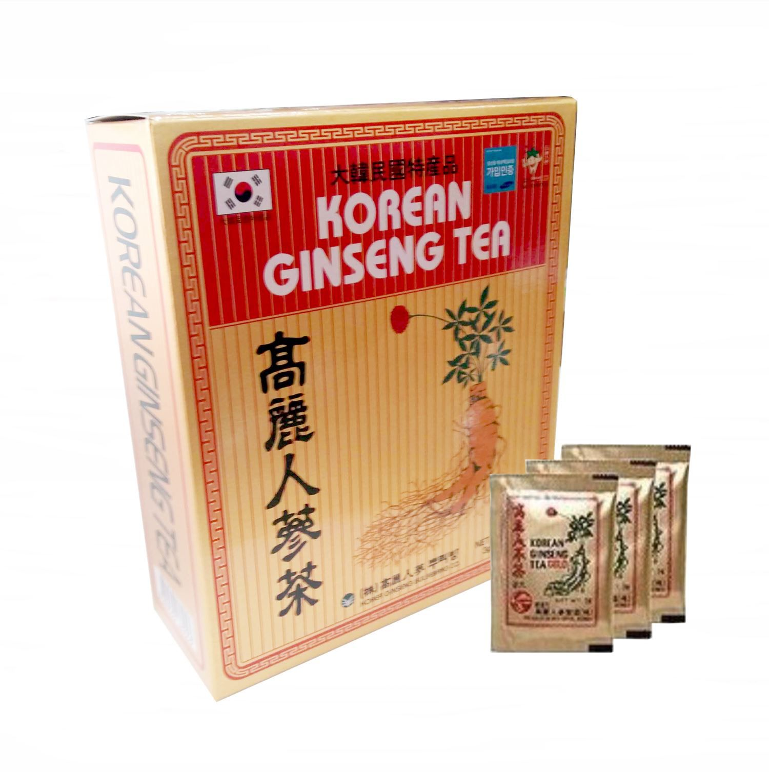 Korean Ginseng Tea Chá Coreano 50 Unid Original