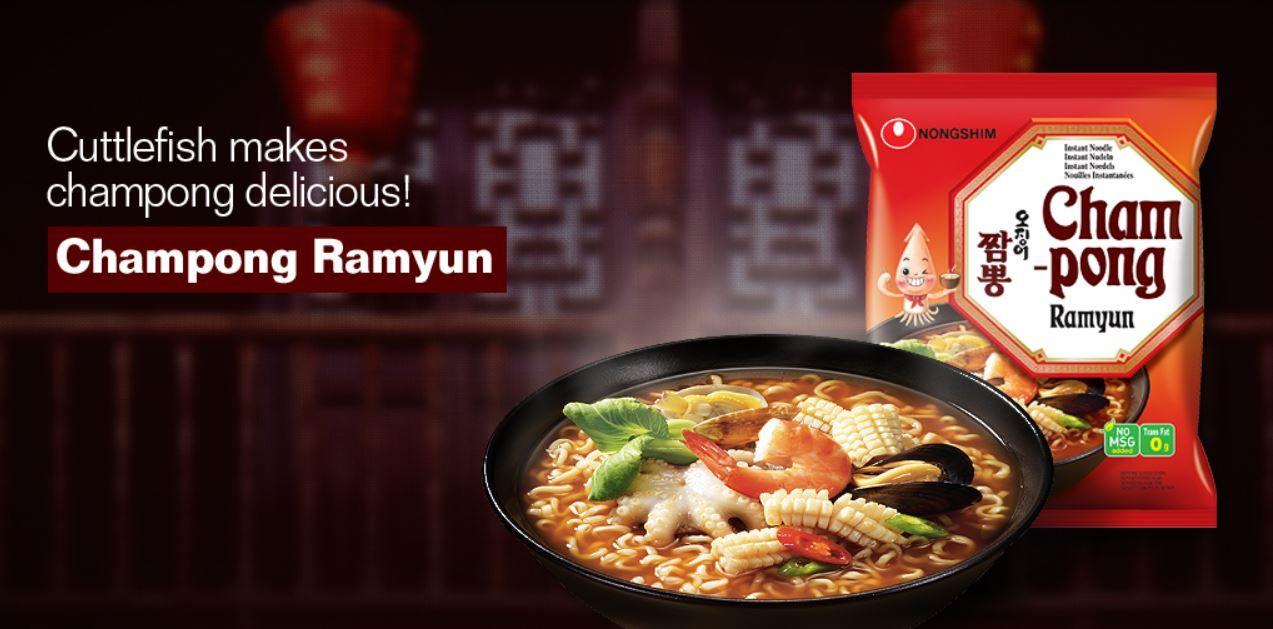 Miojo Coreano Champong Noodle Soup - Nong Shim 100g