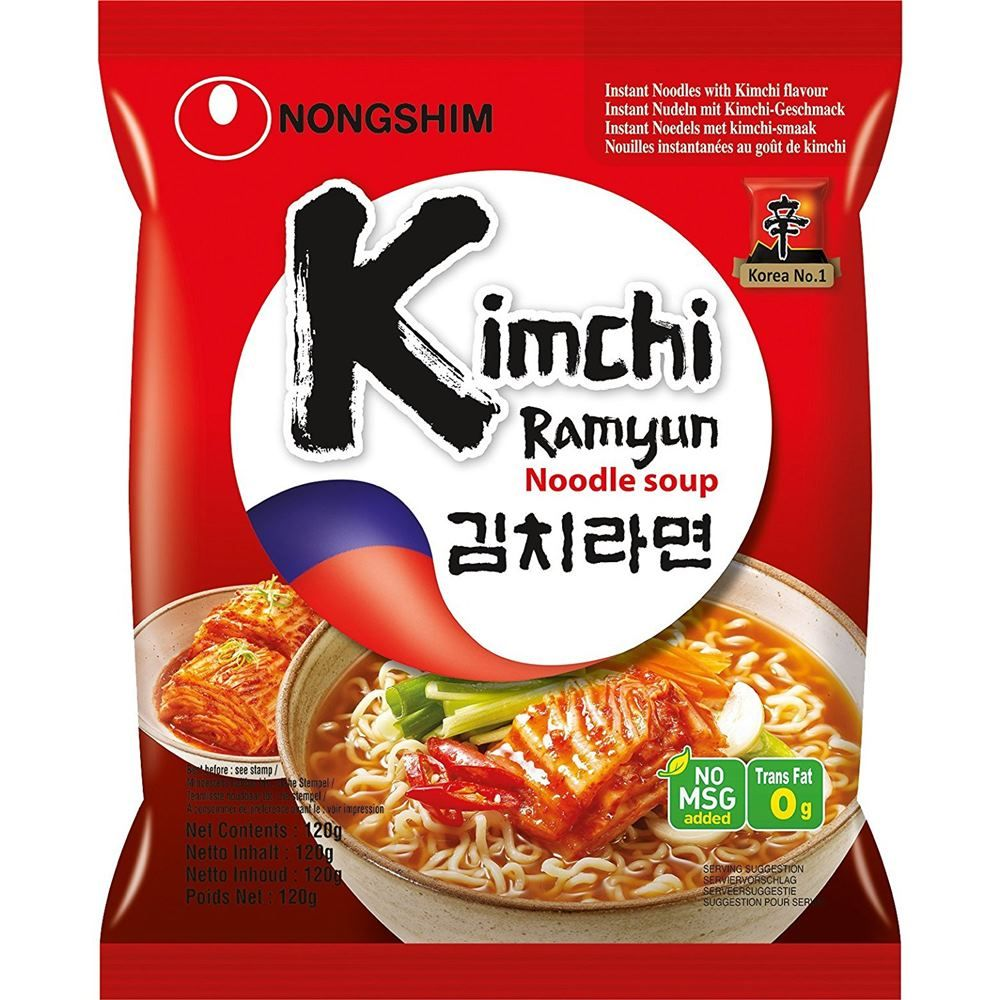 Macarrão Lamen Coreano Kimchi Ramyun 100g - NongShim