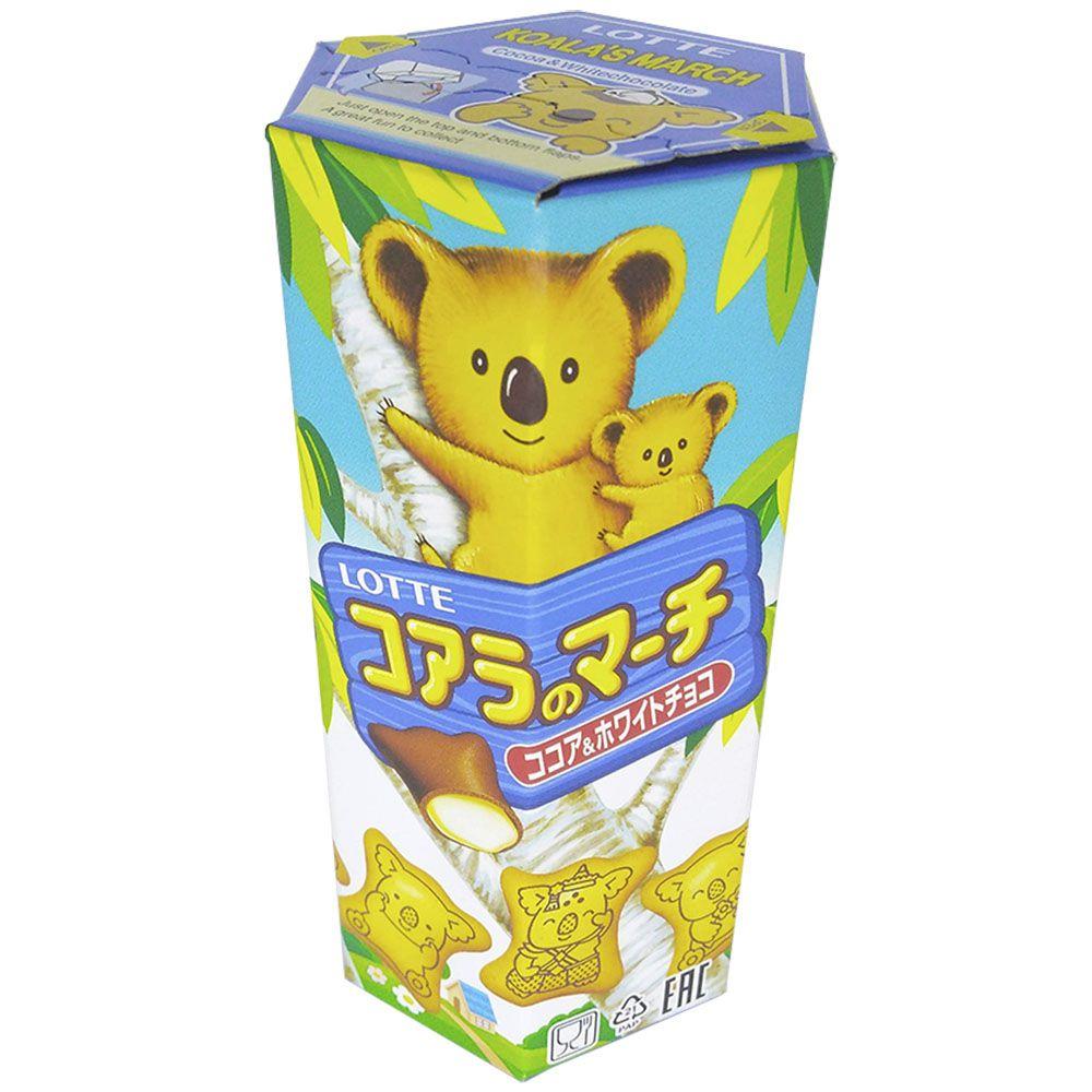 Lotte Biscoito Koala Chocolate Branco 37g - Caixa c/ 10