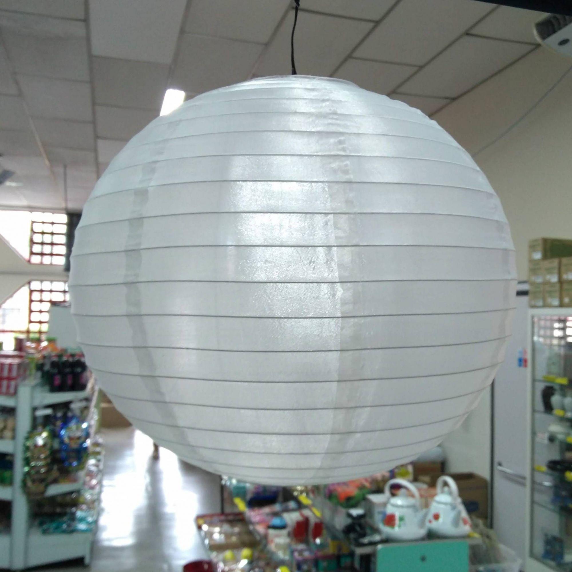 Luminária Decorativo Tyotin 30cm - Verm / Branco