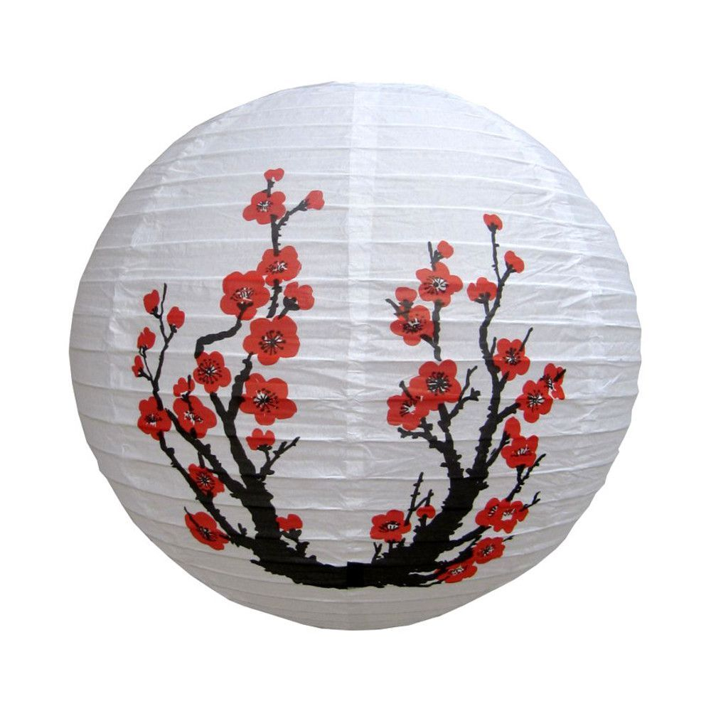 Luminária Japonesa Tyotin Flor Sakura 30cm