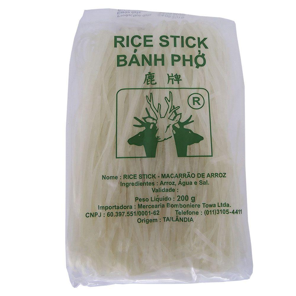 Talharim de Arroz Rice Stick 200g 3mm  - Sem Glúten