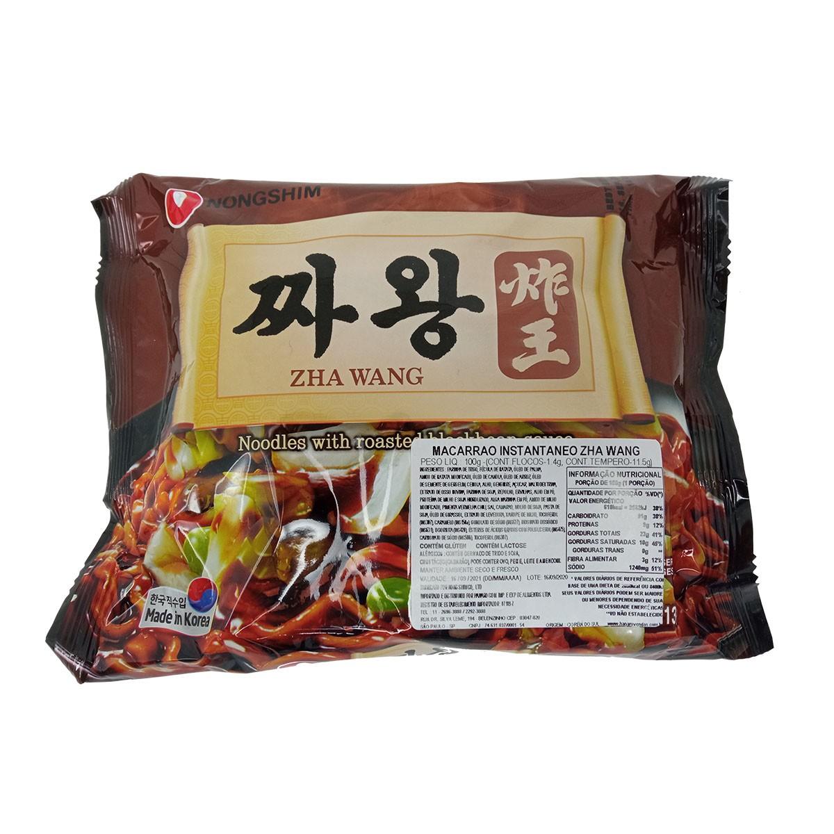Macarrão Lamen Coreano com Molho de Feijão Preto Zha Wang 100g - NongShim