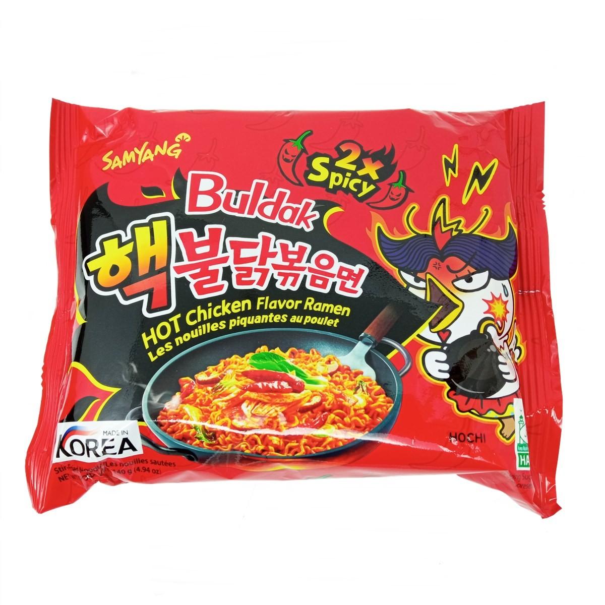 Macarrão Lamen Coreano Hot Chicken Buldak x2Spicy 140g - Samyang