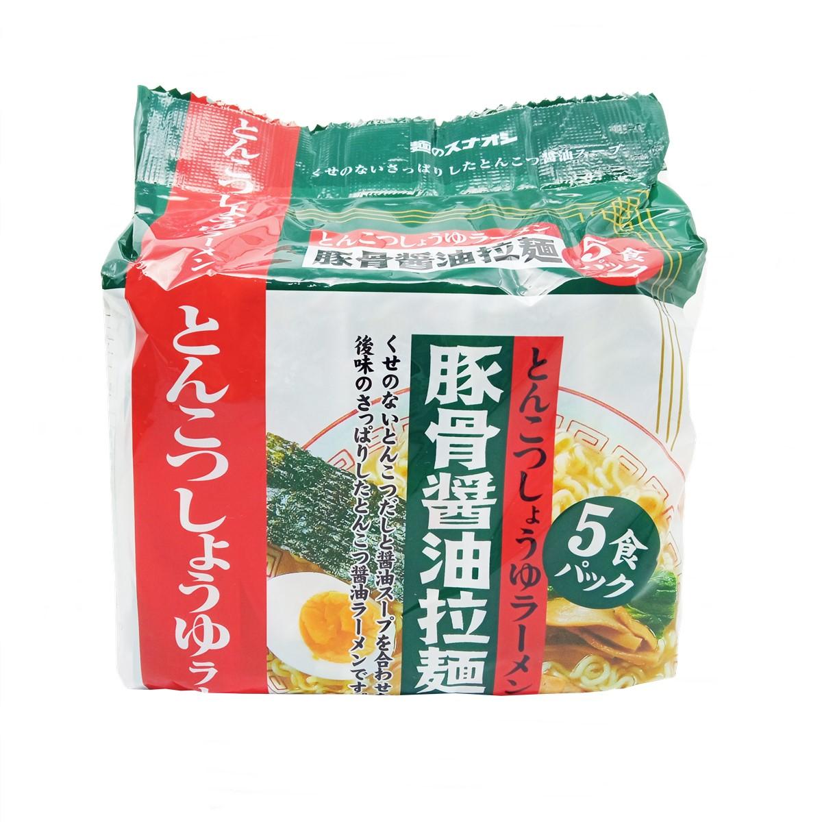 Macarrão Lamen Tonkotsu Shoyu com 5 Pacotes - Sunaoshi
