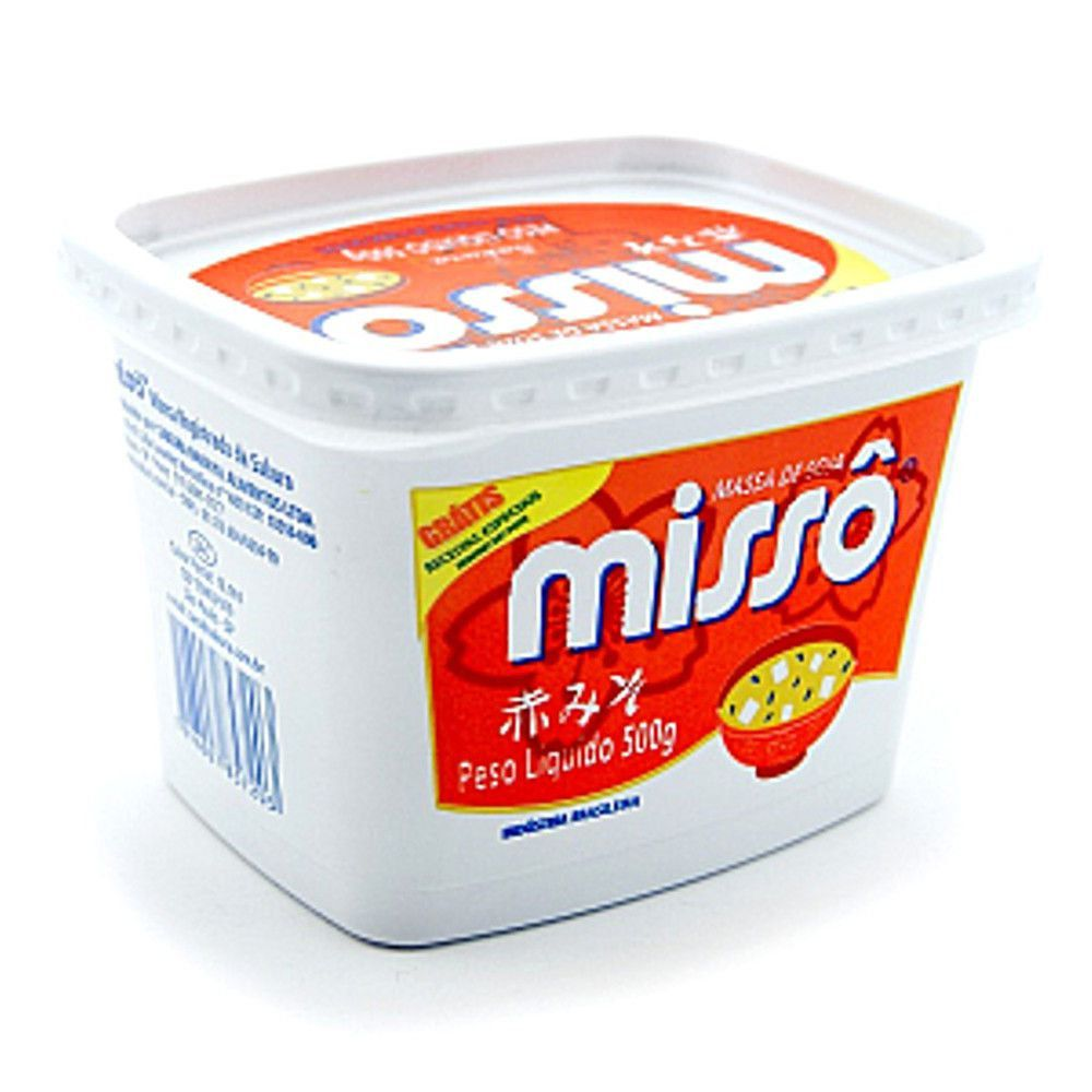Massa de Soja Missô Aka Vermelho 500g - Sakura