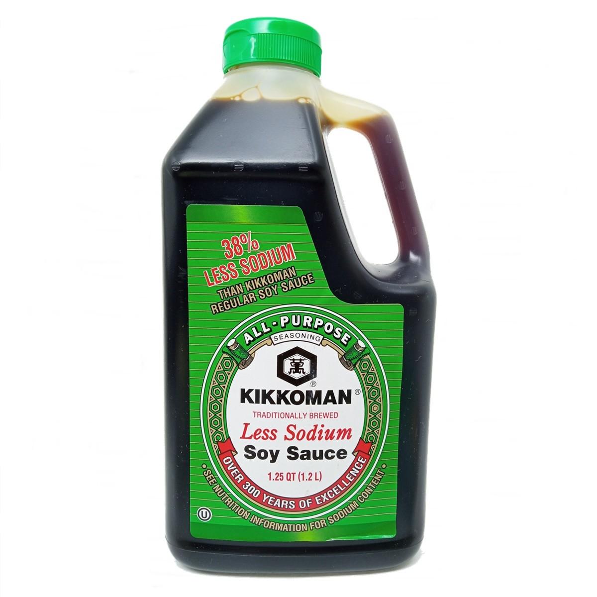 Molho de Soja Shoyu Less Salt 1,2L - Kikkoman