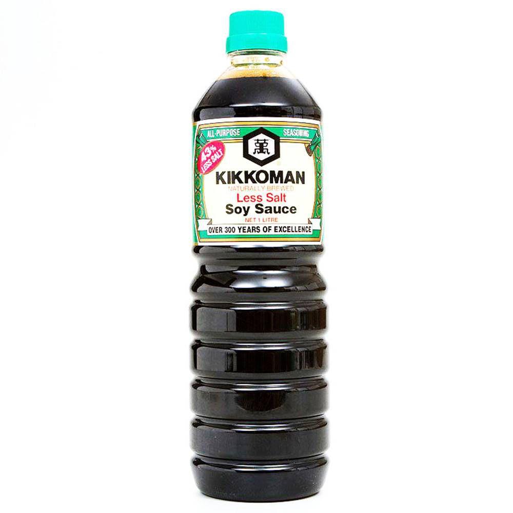 Molho de Soja Shoyu Less Salt 1L - Kikkoman