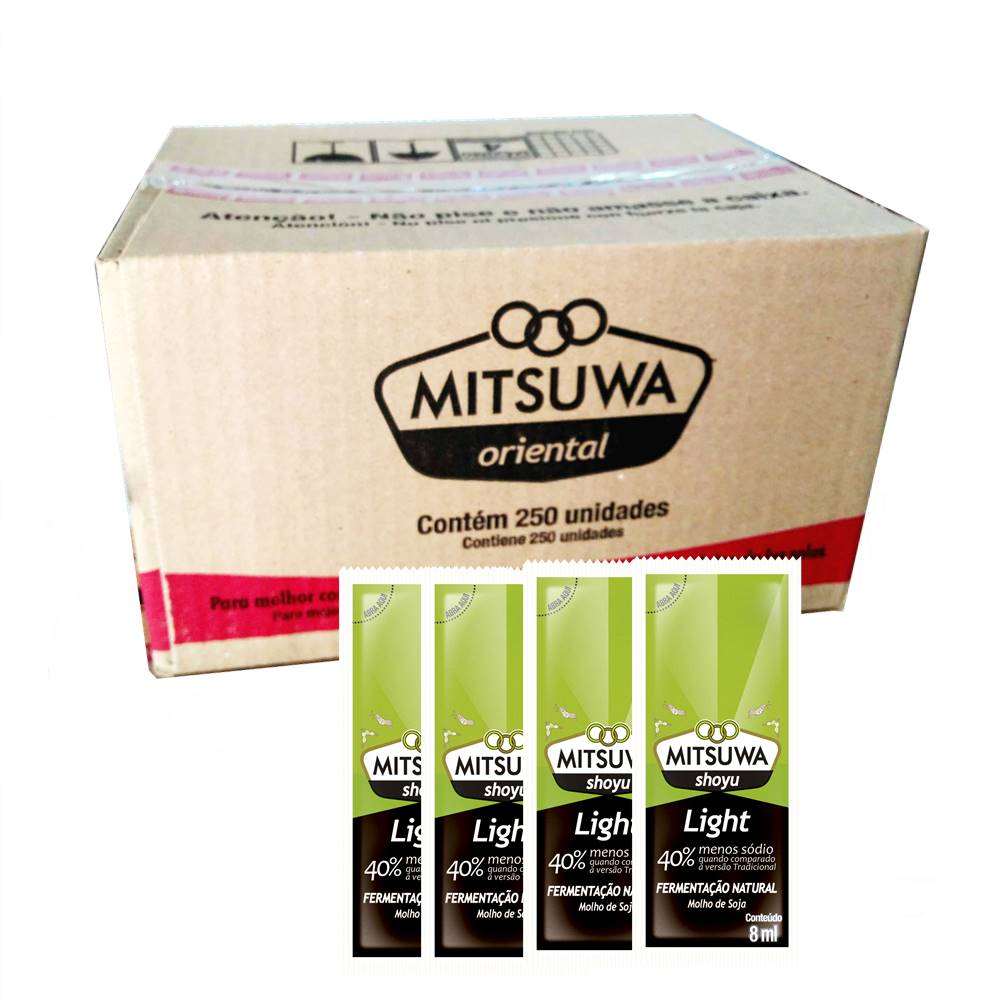 Molho Shoyu LIGHT 250 Sachês Mitsuwa