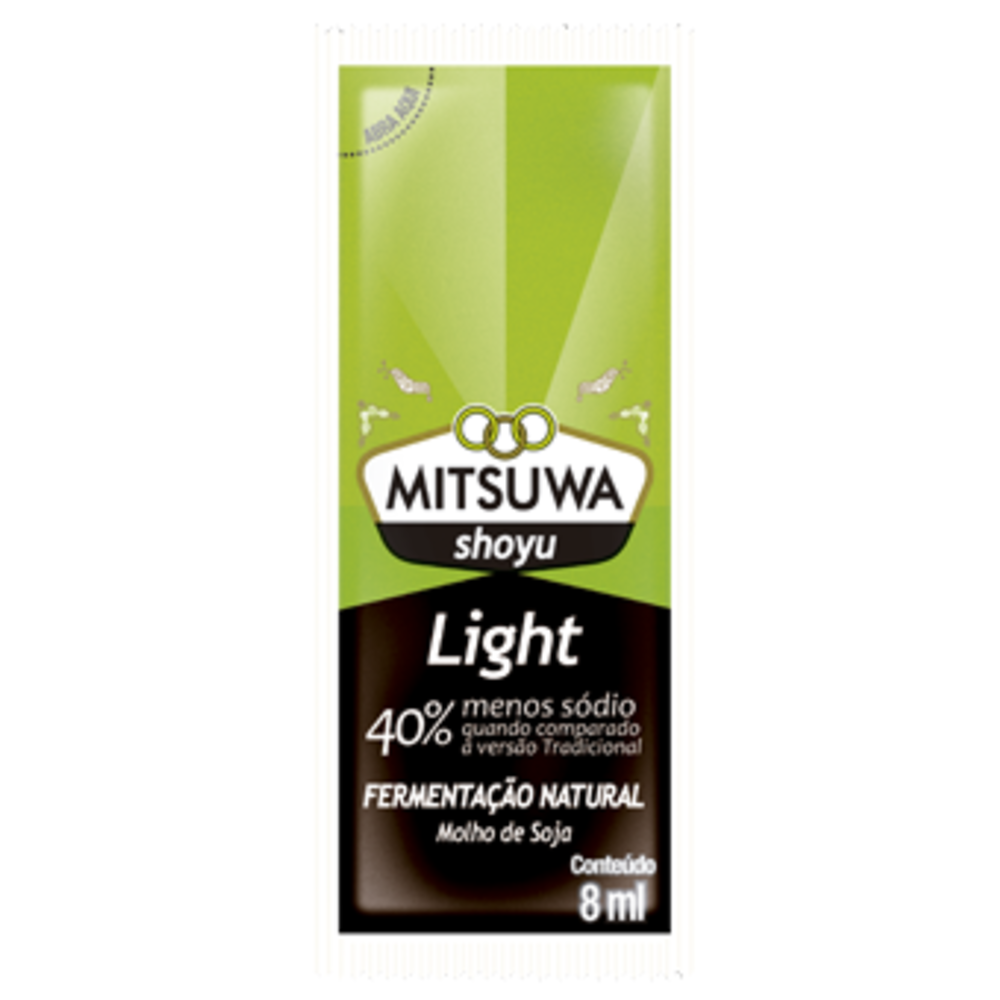 Molho Shoyu Light Sache Mitsuwa 250 Unidades (1cx)