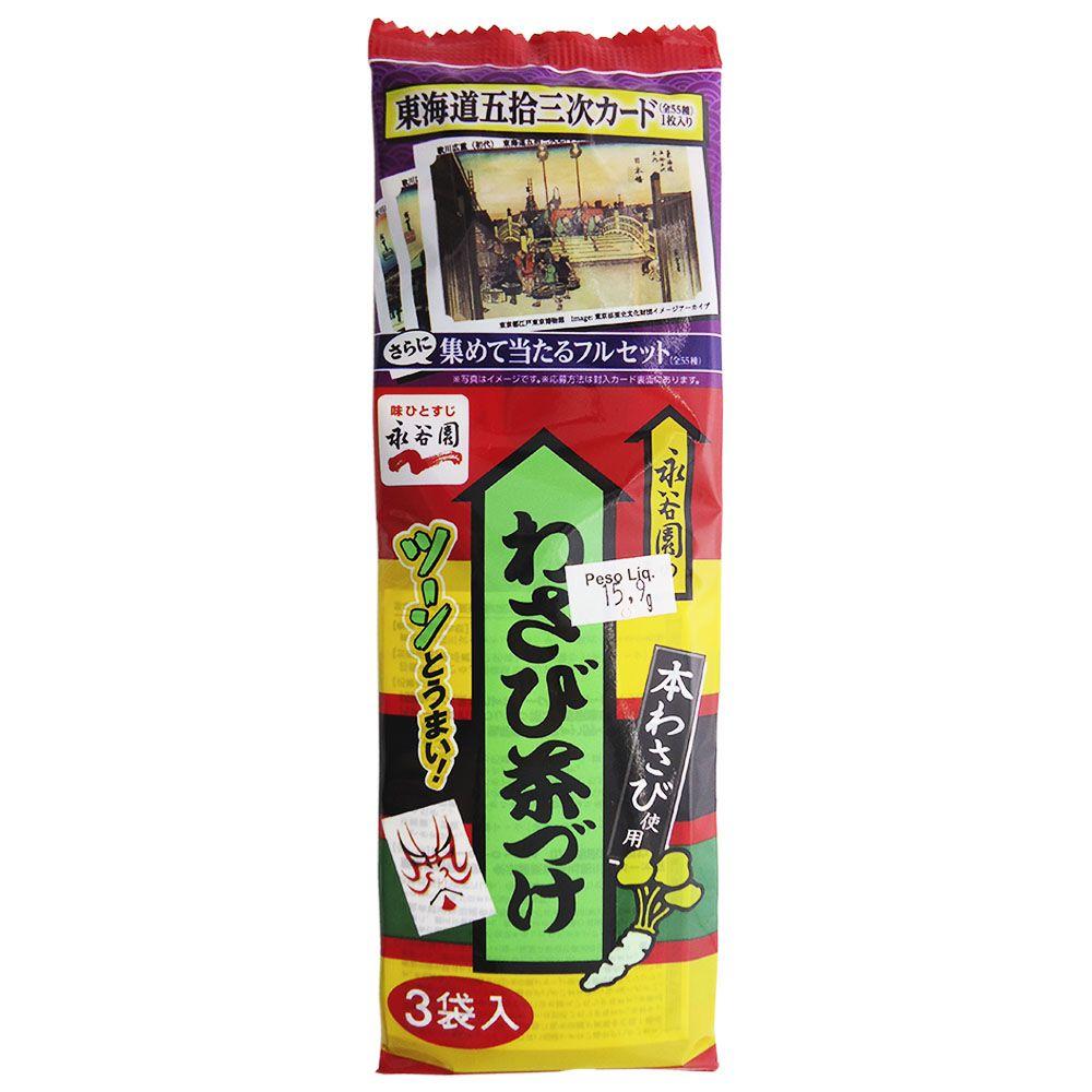 Tempero para arroz Ochazuke Wasabi 3Px5,3g - Nagatanien
