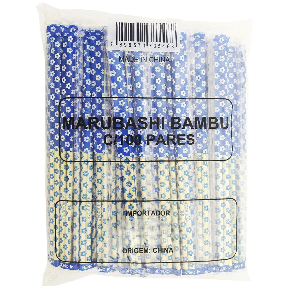 Hashi Waribashi Bambu Redondo Descartável 100 Pares